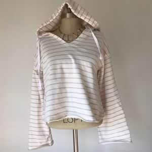 Striped oversized hoodie NWT